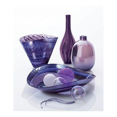 Crate and Barrel: beautiful purple glass collection