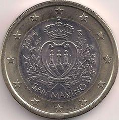 2 euro San Marino 2014 Republic Of San Marino, The Republic, Saint Marin, Collection, Santos, Report Cards, Coin Collecting, Money