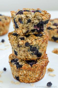 Baked Blueberry Banana Oatmeal Cups Baked Blueberry Banana Oatmeal Cups - perfect and healthy way to start your day! Delicious, moist and not too sweet! Very easy to make, fast to eat and good choice for every occasion! Healthy Muffin Recipes, Gourmet Recipes, Baking Recipes, Healthy Blueberry Recipes, Healthy Food, Blueberry Desserts, Amish Recipes, Meal Recipes, Healthy Baking