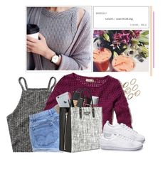"""""""JL"""" by jonaticaajesy ❤ liked on Polyvore featuring Abercrombie & Fitch, Hollister Co., Levi's, NARS Cosmetics, Christian Dior, Balenciaga and ASOS"""