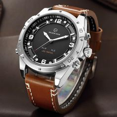 GOLDENHOUR Watches, the leading manufacturer of sophisticated, military and tactical watches worldwide, GOLDENHOUR proudly introduces this special collection of rugged and dependable timepieces. After years of development, GOLDENHOUR has unveiled these ex Dream Watches, Men's Watches, Luxury Watches, Cool Watches, Watches For Men, Popular Watches, Watches Online, Audemars Piguet, Datejust Rolex