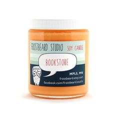 Bookstore  Book Lovers' Scented Soy Candle           by Frostbeard, $13.00
