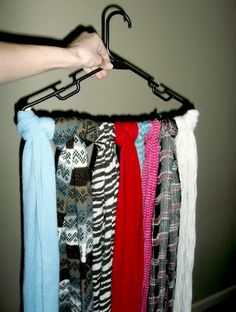 scarf storage- I do the same for my ties and it would prolly be good for belts too!