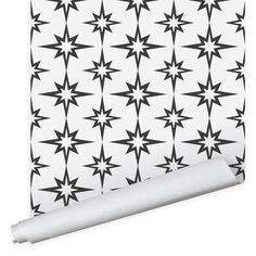 Starburst Wallpaper - Peel And Stick / White / 2' x 12'