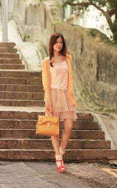 Stylementor - Layered Mesh Skirt on LoLoBu