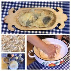 Zemplinské pirohy (so slivkovým lekvárom a slaným tvarohom, poliate maslom)