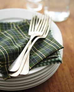 No-Sew Napkins from gently worn shirts. | Whole Living