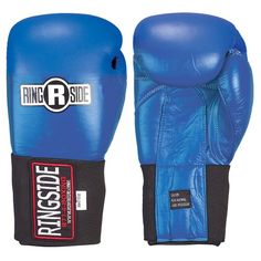 Discounted Ringside Competition Safety Gloves - Hook & Loop (Blue, 10-Ounce) #10-Ounce) #RingsideCompetitionSafetyGloves-Hook&Loop(Blue