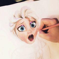 shocked #Elsa #Frozen