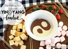 Melting Pot Yin and Yang chocolate fondue
