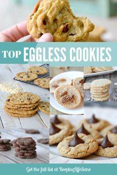 You'll find that these are the best eggless cookies on the Internet!! You won't believe that they are egg free. You won't be disappointed. Egg Free Desserts, Eggless Desserts, Eggless Recipes, Eggless Baking, Egg Free Recipes, Baking Recipes, Cookie Recipes, Dessert Recipes, Holiday Desserts