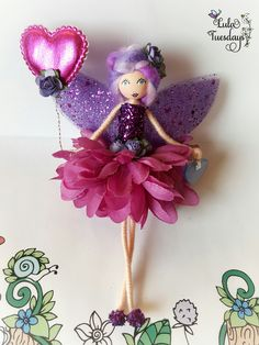 Beautiful handmade fairies for all occasions, each tiny face is painted by hand making each fairy totally unique! Fairy Crafts, Doll Crafts, Diy Doll, Clothespin Dolls, Flower Fairies, Little Doll, Fairy Dolls, Diy Arts And Crafts, Christmas Angels
