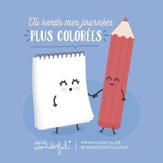 «Ma vie est bien plus heureuse en couleurs #mrwonderfulshop #jeudi»