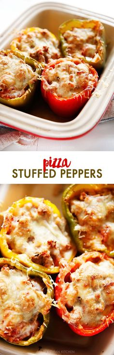 These delicious Pizza Stuffed Peppers are everything you want in a dinner! Stuffed with ground turkey (or beef) and all the pizza fixings! Easy Delicious Recipes, Paleo Recipes, Paleo Meals, Ham Recipes, Recipies, Paleo Dinner, Dinner Recipes, Dinner Ideas, Lunch Ideas