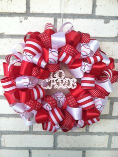 St Louis Cardinals  10 inch ribbon wreath home decor by ekieffer11, $32.00