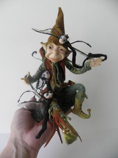THE TROUBLE with WORMS ooak polymer clay by dinkydarlings on Etsy, $229.00