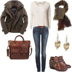 """""""comfy fall boots and slouchy sweater"""" by lulums on Polyvore"""