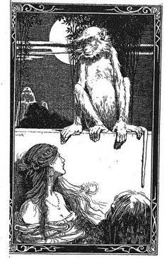 Rama and the Monkeys by Geraldine Hodgson, illustrated by W. H. Robinson (1903).