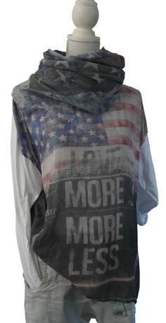 Impressionen Shirt T-Shirt oversized weiss weiß Schrift Sterne langarm 42 44 46