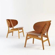 hans wegner shell lounge chairs | wright 20.