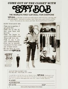 1970's first gay male doll