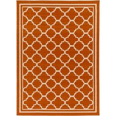 Marina Rust and Ivory Rectangular: 6 Ft 7 In x 9 Ft 6 In Rug - (In Rectangular)