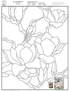 cake Stained Glass Patterns for FREE 008 Springtime Magnolia.jpg