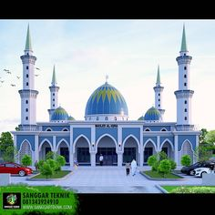 Masjid Al Iqra, Palalawan Riau Indonesia. Bungalow House Design, House Front Design, Mosque Architecture, Art And Architecture, Residential Architecture, History Of Islam, Basement House Plans, Beautiful Mosques, Grand Mosque