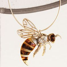 Amber Honeybee Necklace from Smithsonian Store