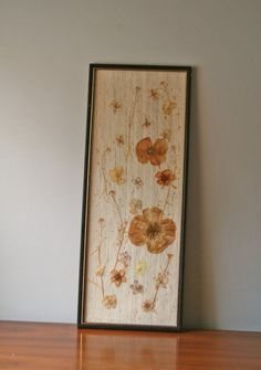 vintage framed art pressed flowers by ModishVintage on Etsy ***Classic and appropriate to display year round.