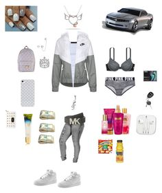 """Untitled #102"" by tnasty15 ❤ liked on Polyvore featuring Tusnelda Bloch, NIKE, MICHAEL Michael Kors, BlissfulCASE, Michael Kors, Victoria's Secret PINK, Victoria's Secret, Miadora, Disney and Wrigley's"
