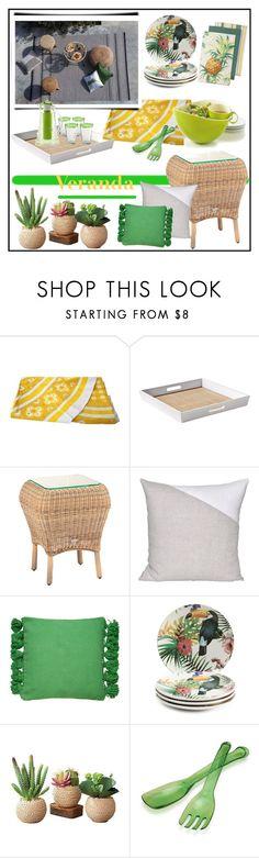 """NATURAL ART DE LA TABLE!!!"" by kskafida ❤ liked on Polyvore featuring interior, interiors, interior design, home, home decor, interior decorating, Serena & Lily, Kate Spade and OXO"