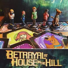 Betrayal is one of our favorite family board games, and we always play with the Mystery Crew... for xmas my daughter baked clay characters for us to add to the game... how cool is this?! #boardgame #bgg #tabletopgames #betrayalatthehouseonthehill #scoobydoo #scooby #boardgames #boardgamegeek #gamesnight