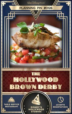 Walt Disney World Planning Pins: The Hollywood Brown Derby at Disney's Hollywood Studios