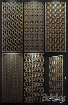 3d models: 3D panel - Decorative panel Pvc Wall Panels, 3d Panels, Wooden Screen, Metal Screen, Jaali Design, Cnc Cutting Design, Jardin Decor, Laser Cut Panels, Wooden Wardrobe