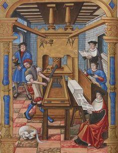 Bibliothèque nationale de France, Français 1537, detail of f. 29v. Chants royaux sur la Conception, couronnés au puy de Rouen de 1519 à 1528. 16th century