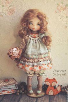 Коллекционные куклы ручной работы. Лисичка. Евгения Драгина. Интернет-магазин Ярмарка Мастеров. Рыжик, детство, фетр
