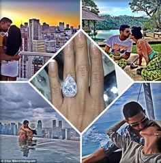 'Shahs of Sunset' star Lily Ghalichi and boyfriend Dhar Mann had only been together for two months when he proposed with this giant teardrop sparkler
