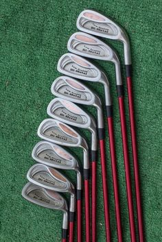 wilson imperial 3, 4, 5, 6,7 , 8, 9, pw iron set - used golf clubs