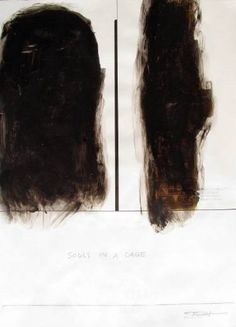 ''The soul cages''/''Âmes en cages'' Painting Original Artwork, Original Paintings, Black Series, Cage, Paper Art, Modern Art, Saatchi Art, Portrait, Shadows