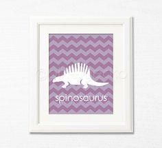 Dinosaur Nursery Art Print iv  Spinosaurus  8x10  by pixelgecko, $14.90