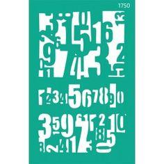 Трафарет многоразовый самоклеющийся, Фоновый 13*20 см,Цифры