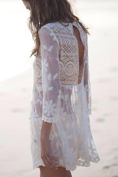 Lace // beach cover up