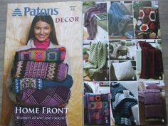 Second Silver - Bernat Afghans to knit & crochet patterns Chunky Worsted & Double Knitting weight