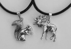 Supernatural Squirrel Dean and Moose Sam friendship necklaces