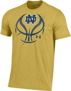 e52aa58975c Under Armour University of Notre Dame Fighting Irish Basketball Charged  Cotton T-Shirt | University