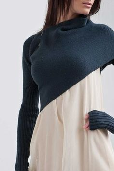 This is the coolest sweater/scarf  you can wear it several different ways.
