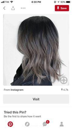 Hair Inspo, Hair Inspiration, How To Cut Bangs, Balayage Hair, Cut And Color, New Hair, Hair And Nails, Black Hair, Curly Hair Styles