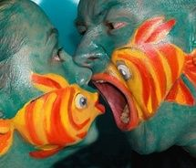 face or fish #photography  #art  #body #paint