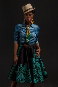 Mariama Skirt - love this look! #Africanfashion #AfricanPrints #Africanstyle